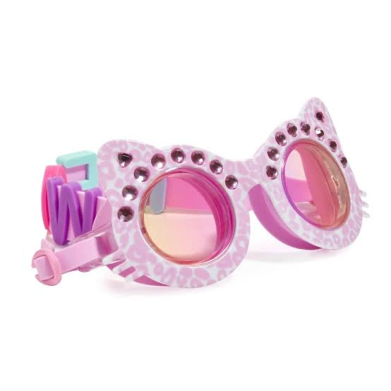 Bling20 Cats Meow Swim Googles - Purrfect Pink