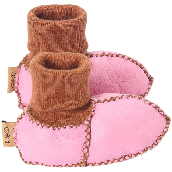 Kip & Co Merino Sheepskin Baby Booties - Hot Pink