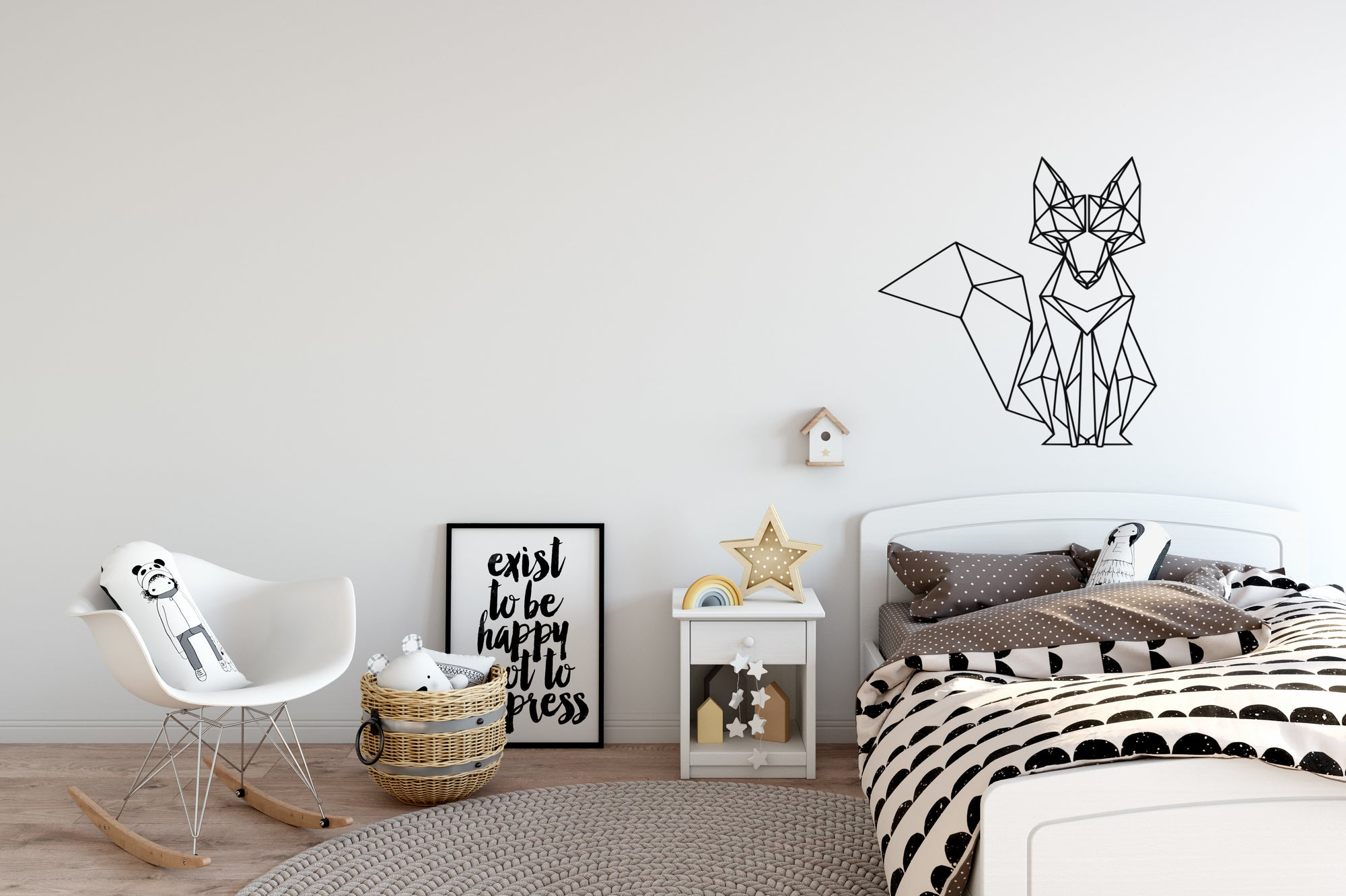 Geometric Fox Wall Decal - East Coast Vinyl Decals, Inc.
