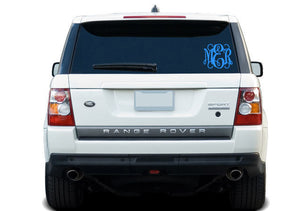 Fancy Monogram Decal - East Coast Vinyl Decals, Inc.