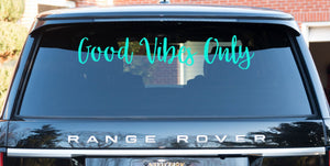 Good Vibes Only, Bumper Sticker, Vehicle Decal, Laptop Decal, positive decal, inspirational, motivational, postive vibes, positive life