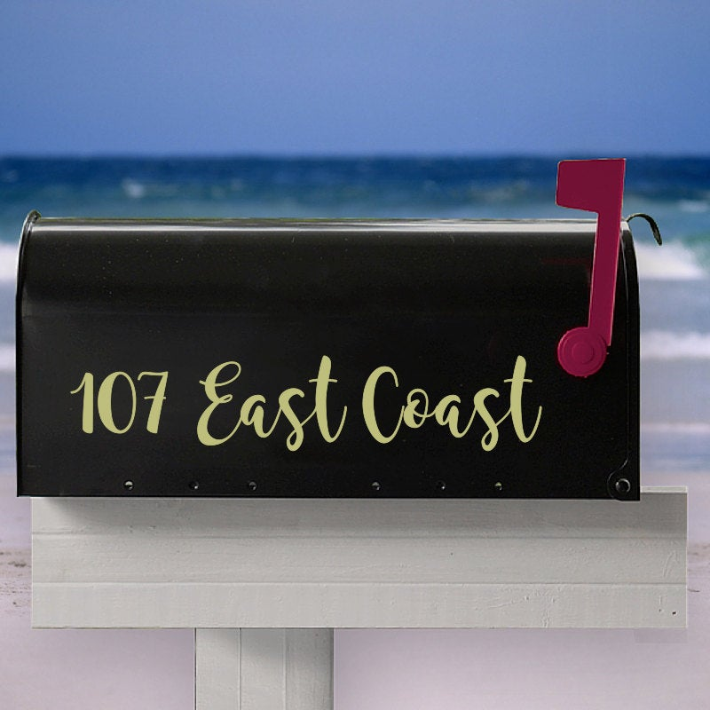 Custom Mailbox Decal, Custom Address Decal, Address Stickers, House Warming Gift, Curb Appeal, Simple Mailbox Decals, Preppy Mailbox Decal