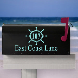 Custom Nautical Mailbox Decal, Beach themed mailbox, Address Stickers, House Warming Gift, Curb Appeal, Mothers Day Gift, Newlywed Gift
