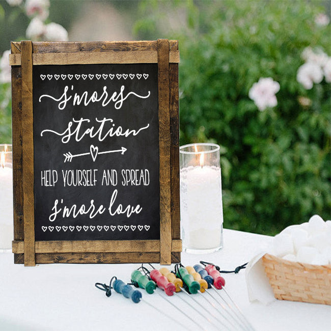 Smores Bar Sign Decals Station Wedding Rustic S