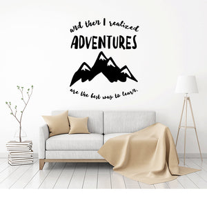 Adventure Wall Decal - Explorer Travel Gifts - Say Yes to New Adventures - Wall Decal - Adventure Decal - Adventure - Adventure Quote - Wall