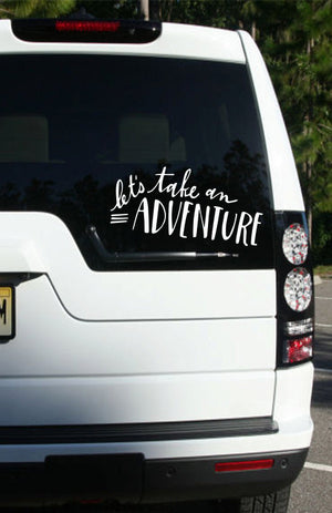 car window sticker  car window decal  vehicle decal  vinyl decal  travel quote  travel decal  outdoors  mountains decal  explore  east coast decals  decal  car decal  adventure decal  adventure awaits  adventure  adventure sticker
