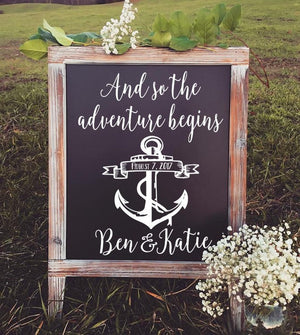 Welcome to the Wedding of Decal - Welcome Wedding Sign - Rustic Wedding Decor - Welcome Wedding Sign - Wedding Welcome Sign - Wedding Sign