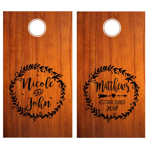Custom Wedding Cornhole Decals, Personalized Cornhole decals, Monogram cornhole decals, Wedding Cornhole, Cornhole Sticker, Custom Cornhole