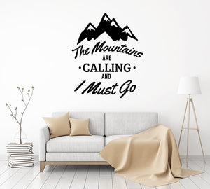 The Mountains Are - Are Calling - Wall Decal - Adventure Wall Decal - Adventure Decal - Adventure - Wall Sticker - Adventure Quote - Travel