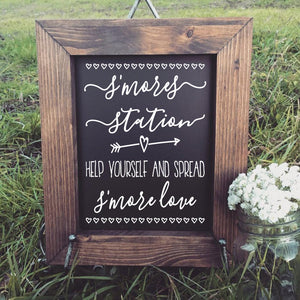Smores Bar Sign Decals, Smores Station Wedding Sign, Smores Station, Rustic, S'mores Bar, Chalkboard, S'more Love, Wedding Signs,DIY Wedding