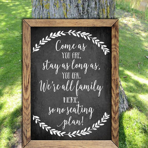 Rustic Seating Plan - Chalkboard Decal - Wedding Seating Sign - Wedding Reception - Boho Wedding - Wedding Guest - Find Your Seat - Decal