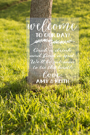 Wedding Sign Decals, Chalkboard Decals, Welcome Wedding Sign, Wedding Sign, Custom Wedding Sign, Wedding Signage, Welcome Wedding, Rustic