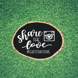Share the Love Wedding Hashtag Sign | DIY Personalized Wedding Decal