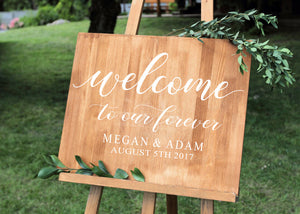 DIY, Wedding Sign, Wedding Decor, Rustic Wedding Sign, Wood Wedding Sign, Wedding Signage, Welcome Sign, Rustic Wedding, Wedding Signs, USA