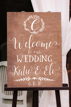 Welcome to our Wedding Sign - Chalkboard Decal - Welcome Sign - Welcome to Our - Welcome Wedding Sign - Welcome Wedding - Wedding Signage