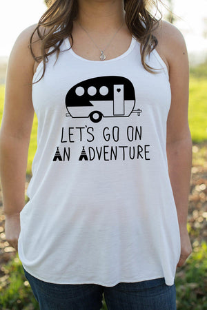 Adventure - Tank Top - Adventure Tank Top - Adventure Shirt - Adventure Tank - Hiking Shirt - Camping Shirt - Hiking _ Womens Tank Top - USA
