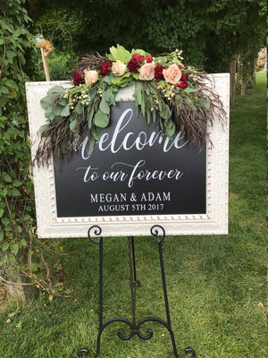 Wedding Sign Decals | Welcome to our Forever