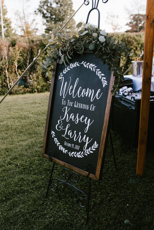 Rustic Welcome Sign | DIY Wedding Decal