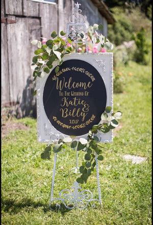 Welcome to the Wedding of Decal, Wedding Decor, Wedding Established, Rustic Wedding Decor, Rustic Wedding Sign, Wedding Welcome Sign, Custom