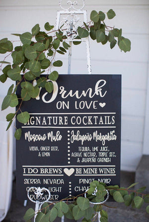 Wedding Bar Menu - Decal - Bar Menu - The Bar Menu - Rustic Wedding Ideas - Unique Wedding Ideas - Rustic Wedding Decor - Wedding Decor, Bar