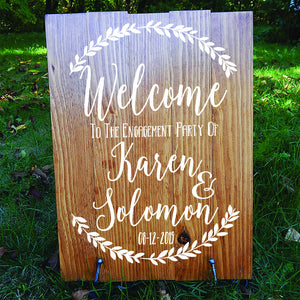 Engagement Sign - Decal - Engagement Photoshoot Sign - Wedding Sign - Rustic Wedding Sign - Engagement Party - Engagement Decor - Signage