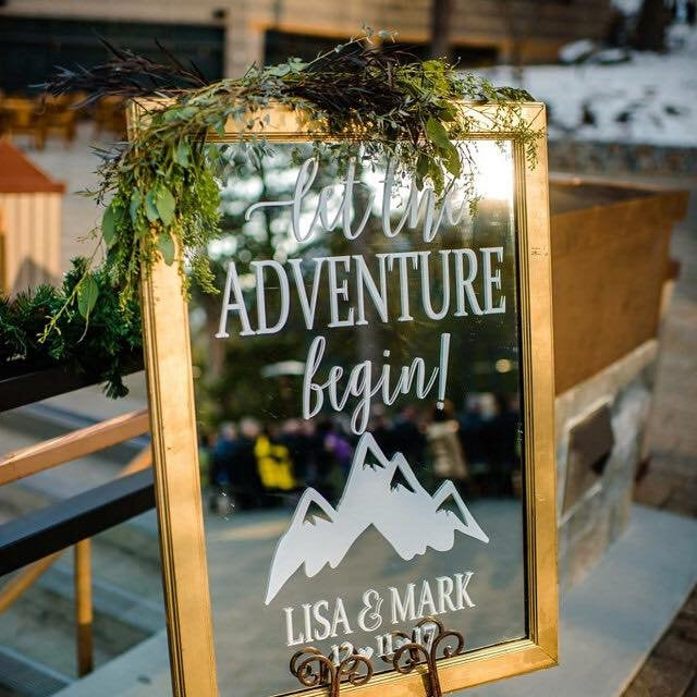 Chalkboard Decal, Wedding Sign, Let the Adventure Begin, Wedding, Reception Sign, Wedding Welcome Sign, Adventure Begin, Wedding Decor, Love