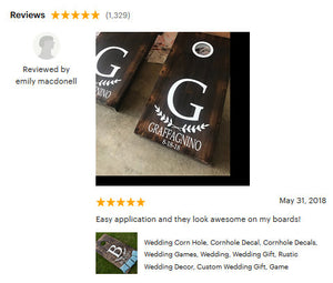 Wedding Corn Hole Decals, Cornhole Decals, Wedding Games, Wedding, Wedding Gift, Rustic Wedding Decor, Custom Wedding Gift, Game