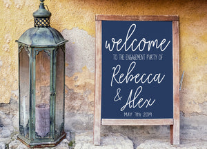 DIY Engagement Welcome Sign - Engagement Party - Engagement Sign - Welcome Sign - Engagement - Wedding Sign - Engagement Decor - Party Sign
