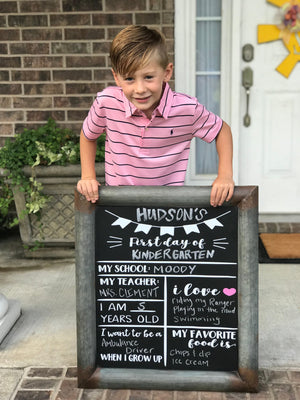 Back to School Sign - Chalkboard Decal - Back to School Sign - First Day of School - Back to School - School Sign - 1st Day of School - USA