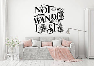 Mountain Decal | Not All Who Wander Are Lost
