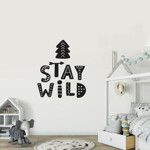 Nursery Wall Decals - Wall Art Bedroom - Removable Decor - Boys Room - Woodland Animal - Kids Wall Decal - Wild Child - Adventure Decor
