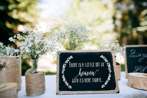 DIY Heaven Wedding Sign - Wedding Sign - In Loving Memory - Memorial Sign - Heaven Sign - Wedding Memorial - Wedding - Remembrance Sign