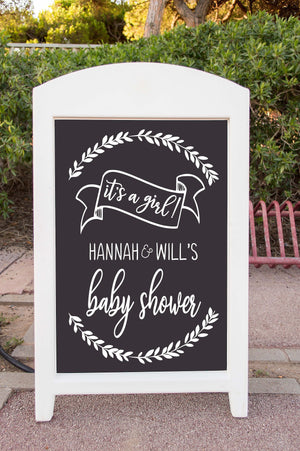 Rustic Baby Shower Sign - Welcome to Baby Shower Sign - Baby Shower Decor - DIY - Custom Chalkboard - Baby Shower Sign - Gender Reveal Idea
