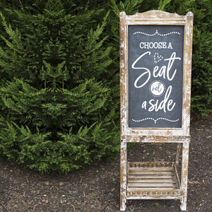Choose a Seat Not a Side Decals, Rustic Wedding Sign, Ceremony Signs, Wedding Signs, Seating Sign, Wedding Seating Sign, Choose a Seat