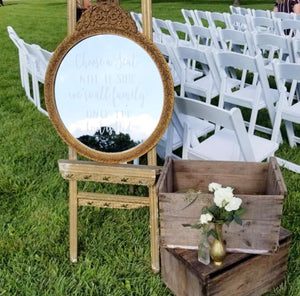 Wedding Ceremony Sign | Choose a Seat Not a Side | Wedding Decor | Seating Sign Decal | Rustic Wedding | 2019 Wedding Trends | DIY