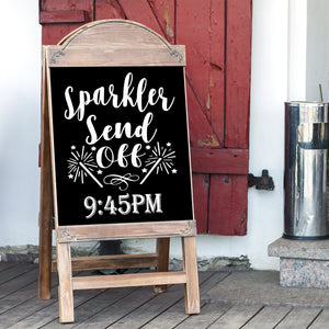 Sparkler Send Off Wedding Sign Decal