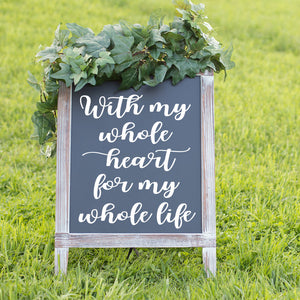 Rustic Wedding Signage | DIY Custom Reception Decal