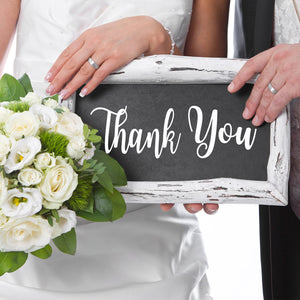 Thank You Sign for Wedding Photo Prop | DIY Chalkboard Wedding Decal
