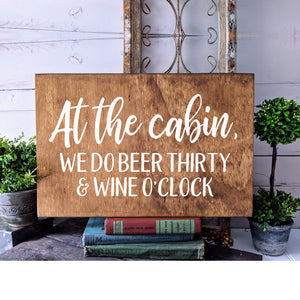 Cabin Decor | Lodge Decor | Cabin Sign | Wall Decal | Home Decor Wall Art | Housewarming | Cabin Gifts