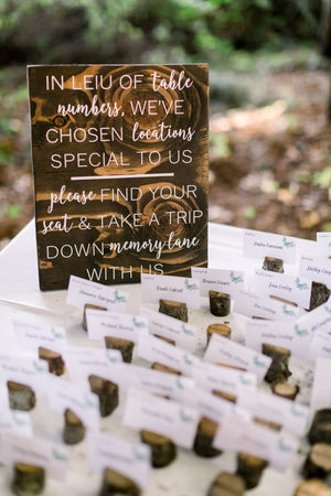 Rustic Wedding Seating Chart Alternative | Alternative Guest | Rustic Table Numbers | Wedding Seating Plan | Find Your Seat | 2019 Trends