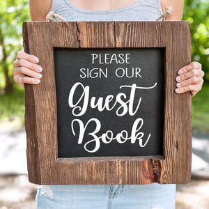Guest Book Sign for Rustic Wedding Decor | Guestbook Sign | DIY Custom Decal