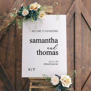 Personalized Welcome to our Wedding Decal Sign | #6919