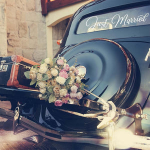 Just Married Car Decal Sticker