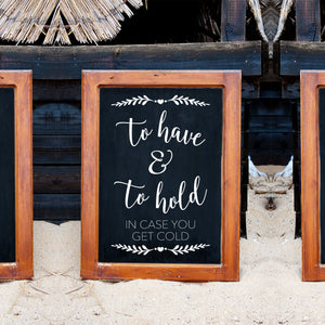 To Have and To Hold | Rustic Wedding Decor | DIY Decal