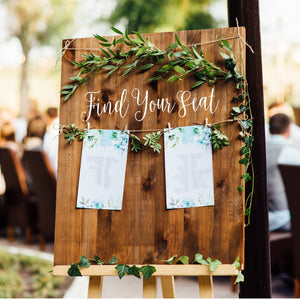 Find Your Seat | DIY Wedding Decal | Seating Chart