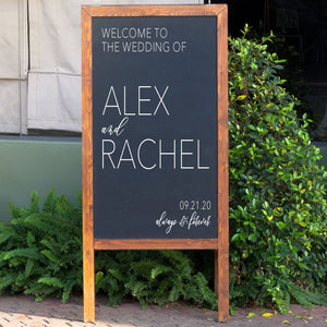 Welcome Wedding Sign | DIY Decal