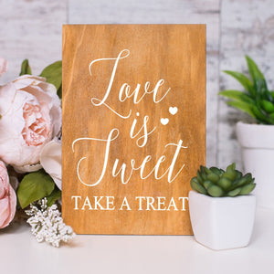 Wedding Favor Decal Sign | Love is Sweet Take a Treat
