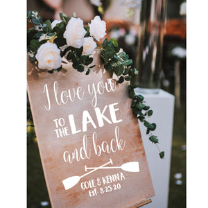 Lake Wedding Decor | Personalized Welcome Sign