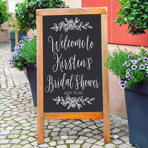 Bridal Shower | Welcome Sign | Chalkboard Decal |