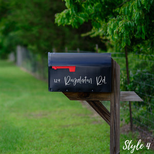 Modern Mailbox | Custom Decal